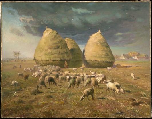 Haystacks Autumn by Jean-François Millet (French, Gruchy 1814–1875 Barbizon)