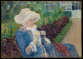 Lydia Crocheting in the Garden at Marly by Mary Cassatt